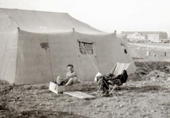 Tienda de campaña del aeródromo de Gallur