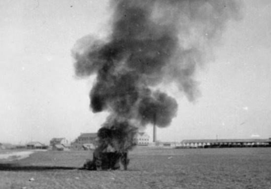Pruebas de explosivos en el Aeródromo de Gallur