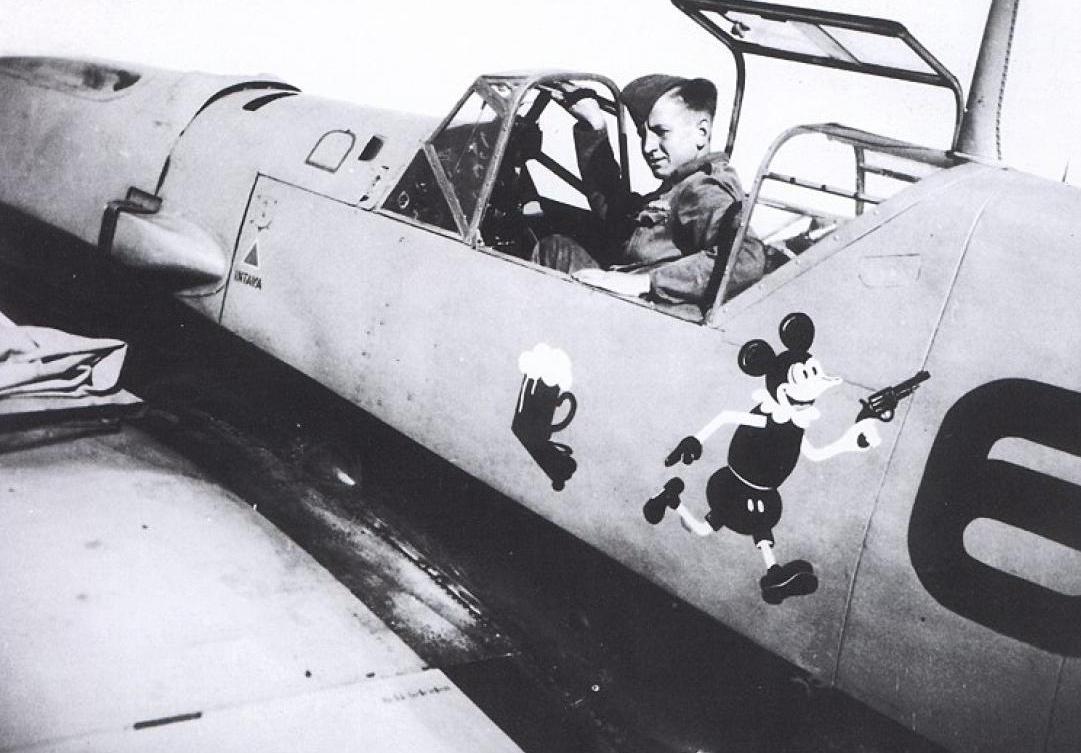 """Avión de la Escuadrilla """"Micky Mouse"""""""